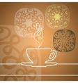 Cup with abstract design elements vector image vector image