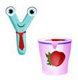 cute kids cartoon alphabet letter y