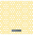 cute yellow flower pattern on white background vector image vector image