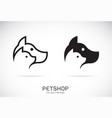 dog and cat design on white background petshop vector image vector image