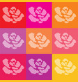 dotted roses vector image vector image