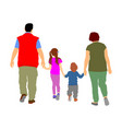 family walking and holding hands children parents vector image vector image