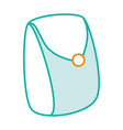 female bag isolated icon vector image vector image