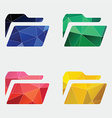 folder icon Abstract Triangle vector image