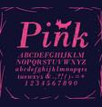 font crosshatch pen line pink vector image vector image