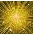 golden glow vector image vector image