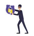 hacker stealing information avatar character vector image