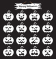 happy halloween - white pumpkin vector image vector image