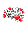 happy valentine s day font composition with vector image