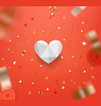 happy valentines day greeting card valentines vector image