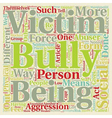 How To Cope With Bullies text background wordcloud vector image vector image