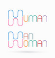 human man woman text design graphic vector image