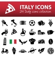 italy icons vector image vector image