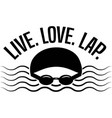 live love lap isolated on white background vector image vector image