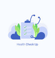 medical check up concept vector image