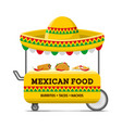 mexican food street cart colorful image vector image vector image