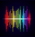 music waves background colored equalizer shapes vector image