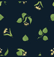 natural seamless pattern with flowering linden vector image vector image