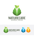 nature care logo vector image vector image