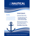 Nautical document template vector image vector image
