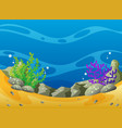 ocean scene with coral reef and rocks vector image vector image