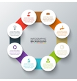 octagon with circles for infographic vector image