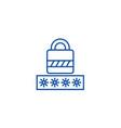 passwordlogin lock line icon concept password vector image