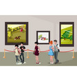 people inside a museum vector image
