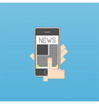 phone on news vector image vector image