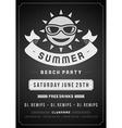 retro beach poster design vector image vector image