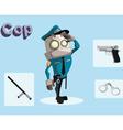 robot cop vector image