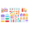 school or office lunch box container vector image vector image