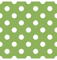 seamless green polka dot vector image