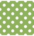 seamless green polka dot vector image vector image