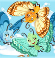 seamless patterm with cute little butterfly on a vector image