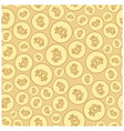 seamless pattern with bitcoins - golden vector image