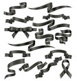 set black ribbons vector image