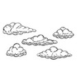 set clouds icon or logo isolated sign symbol vector image vector image