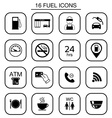 Set of gas station icons Isolated vector image vector image