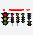 set realistic traffic light vector image vector image
