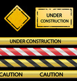 set signal tape and warning signs vector image