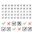set twenty-five different black ticks vector image