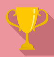 sport gold cup icon flat style vector image