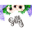 spring hand lettering label vector image vector image