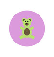 stylish icon in color circle toy bear vector image vector image