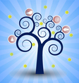 The social network tree vector image vector image