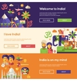 Traveling to India website headers banners set vector image vector image