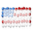 usa balloon design of american flag vector image vector image
