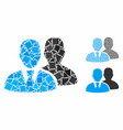 users composition icon uneven pieces vector image vector image