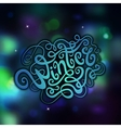 Winter abstract hand lettering vector image vector image